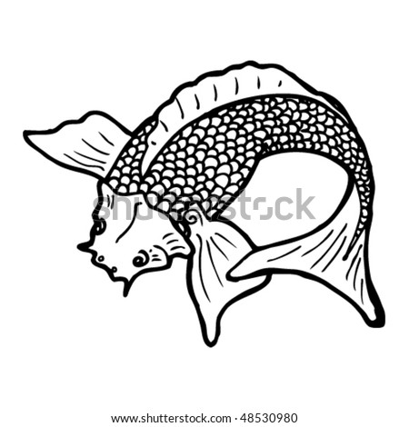 stock vector : koi tattoo