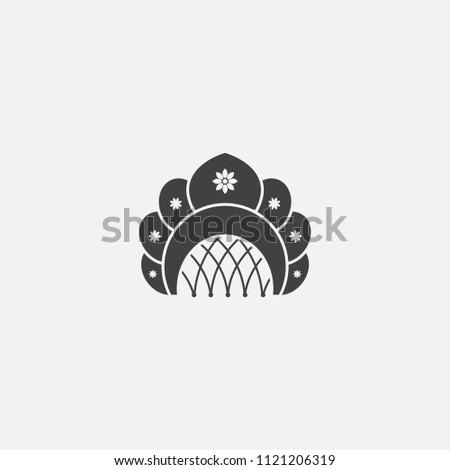 kokoshnik base icon. Simple sign illustration. kokoshnik symbol design from Russia series. Can be used for web, print and mobile