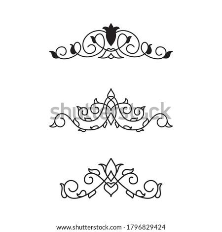 Koleksi Pojok Perbatasan dan Elemen Bingkai Berkembang. Elemen Undangan Kartu Vektor. Kaligrafi Grunge Victoria. Set Undangan Pernikahan. Perbatasan Ornamen Abad Pertengahan. Bunga dan Siluet Daun Stok fotoğraf ©