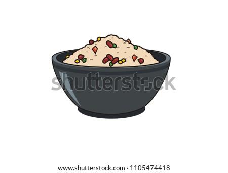 kongbap rice simple illustration Stock photo ©