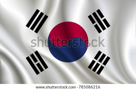 Korea Flag background