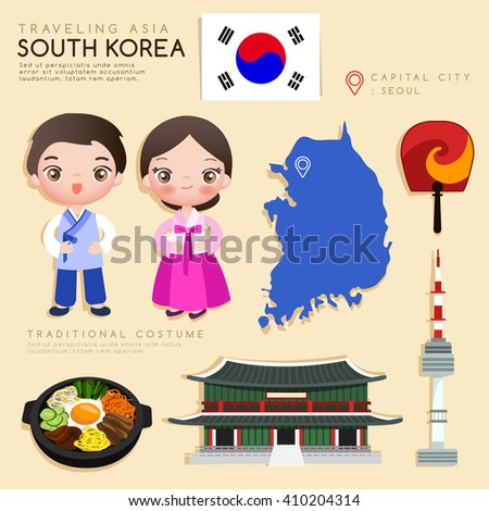 korea   infographic with