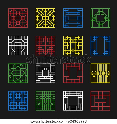 korea traditional pattern frame