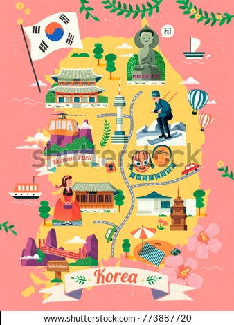 korea travel map  lovely korea