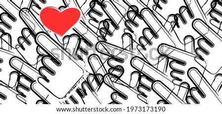 korea v finger wave with love