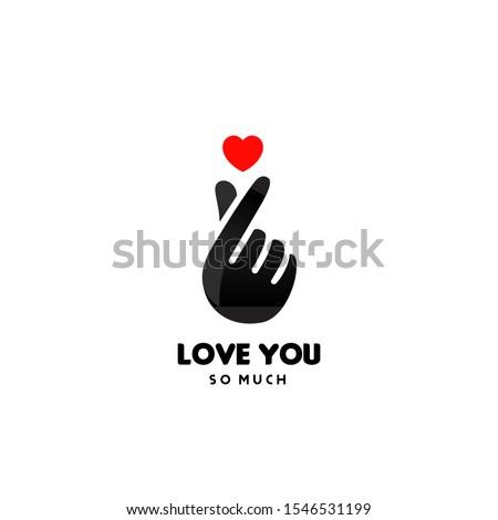 korean finger heart i love you