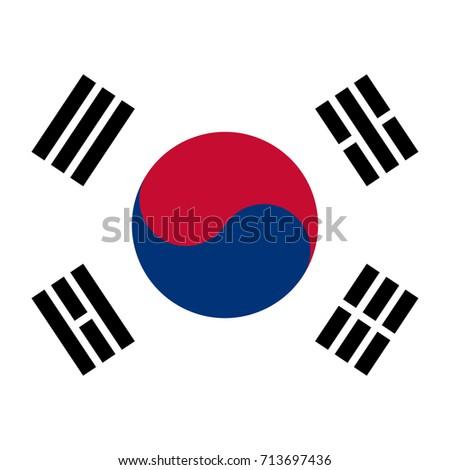 korean flag background  vector