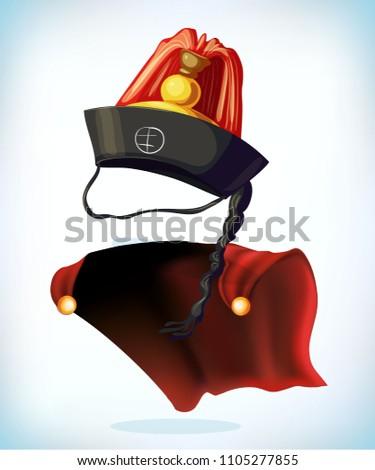 korean hat masquerade costume