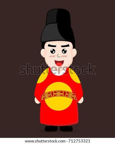 korean king dress vector