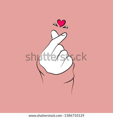 korean love sign korea finger