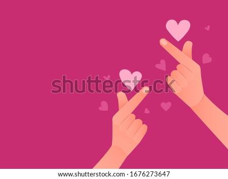 korean symbol of love pink