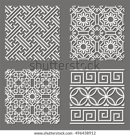 Korean tradition mun-tin pattern. Seamless geometric pattern.