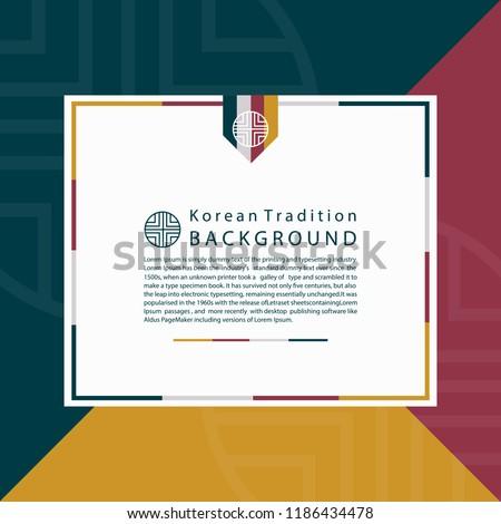 Korean Traditional background for design. Vector illustration eps 10.