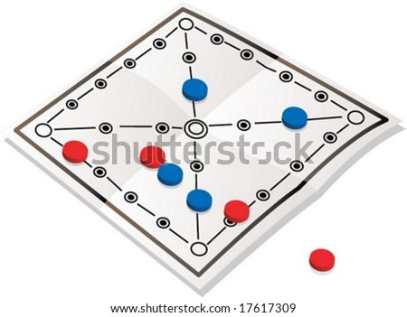 Korean Traditional Game Article on white background