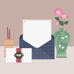 Korean traditional objects vector illustration.