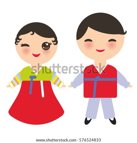 koreans kawaii boy and girl in