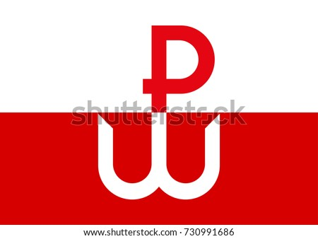 Kotwica, the symbol and emblem of Polish Underground State and Warsaw Uprising during World War II. The Uprising started on August 1st, 1944.  Zdjęcia stock ©