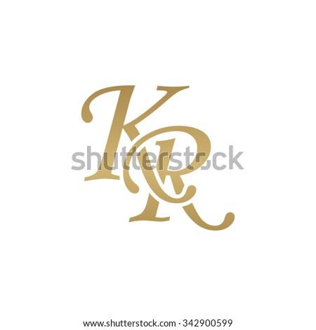 KR initial monogram logo Stock fotó ©