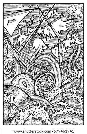 kraken  the giant octopus