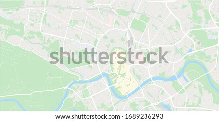 Krakow city map