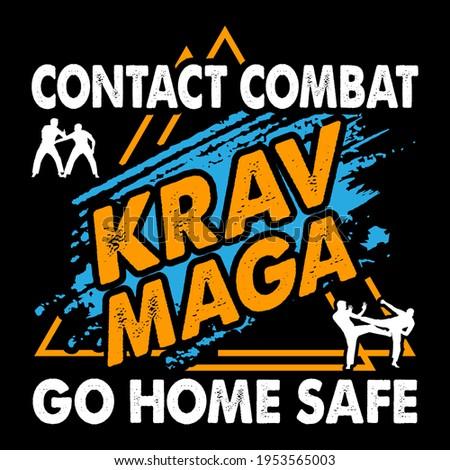 Krav Maga Brazilian ju-jitsu Vector Design. This illustration can be used as a print on T-shirts, cups, bags, Phone Case etc. Stock fotó ©