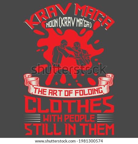 Krav Maga T-shirt Design vector Stock fotó ©