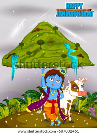 krishna lifting mountain on