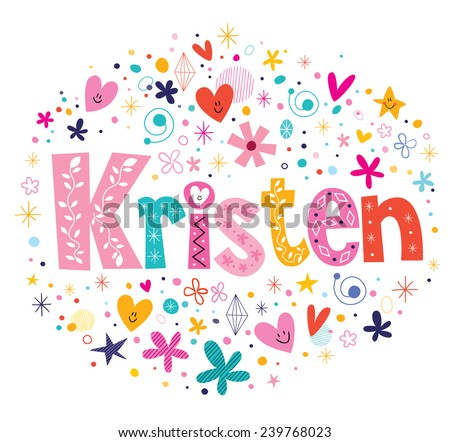 kristen female name decorative