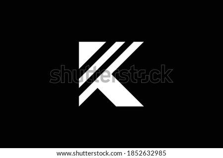 KT letter logo design on luxury background. TK initials letter logo concept. TK icon design. KT elegant and Professional letter icon design on background. T K  Stok fotoğraf ©