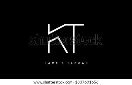 KT, TK, K, T Letters Abstract Logo Monogram Stok fotoğraf ©