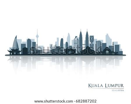 kuala lumpur  blue skyline