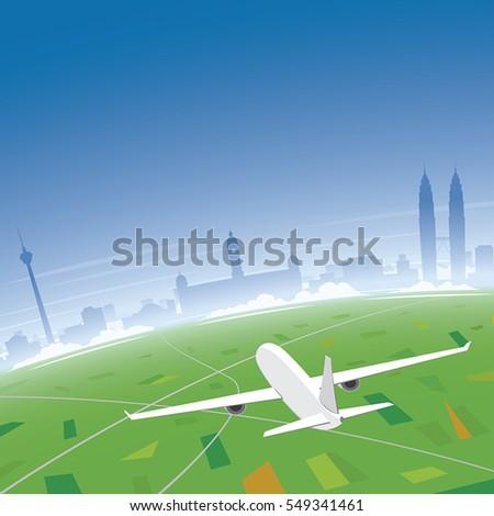 kuala lumpur skyline flight