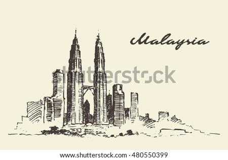kuala lumpur skyline  malaysia  ...