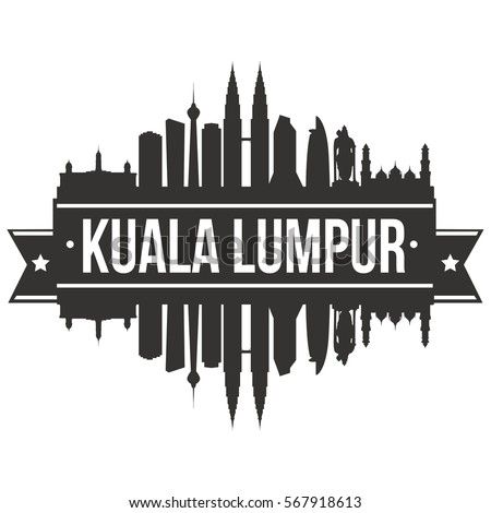 Kuala Lumpur Skyline Stamp Silhouette City Vector Design Art