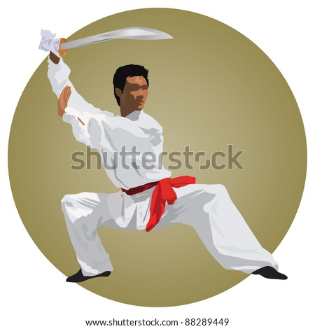 kung fu fighter with sword