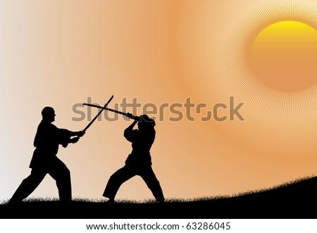 Kung fu players