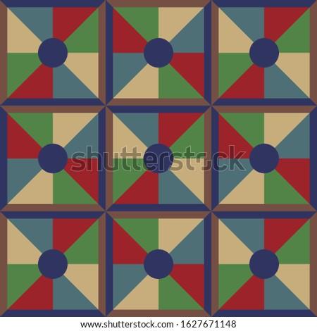 Kurak oyu. Geometric traditional carpet patterns of Kazakhs from felt. Background, texture, design life of nomads. Ancient Turkic ornaments. Customs and traditions of Kazakhstan. Decorative art of nom Stok fotoğraf ©