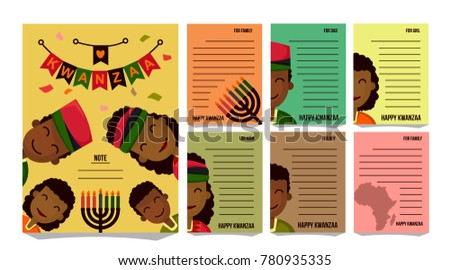 Kwanzaa illustration greetings vector download free vector art kwanzaa greeting card pack kwanzaa symbol background character type african family m4hsunfo