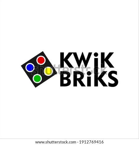 kwik brik logo design - logo design Stockfoto ©