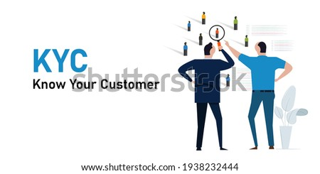 KYC know your customer concept of profiling information identity about consumer of our business ストックフォト ©