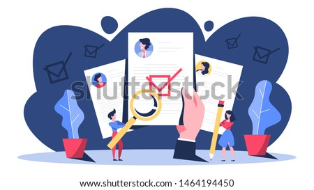 KYC or know your customer concept. Idea of business identification and finance safety. Cyber crime. Isolated vector illustration in cartoon style
