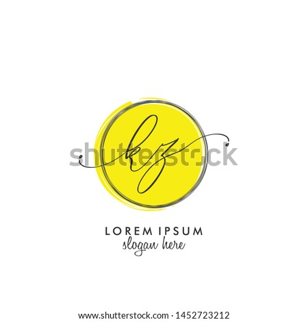 KZ Initial beauty monogram logo vector Stok fotoğraf ©