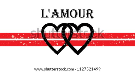 L'amour modern Fashion Slogan for T-shirt and apparels graphic vector Print.