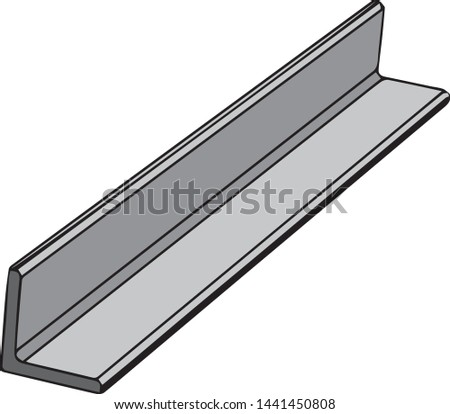 L angle or L angle steel as construction materials.