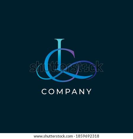 L,C letters vector monogram. L,C letters logo. LC letters emblem Stock fotó ©