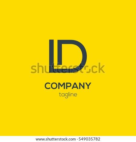 L & D  Letter logo design vector element Stock fotó ©