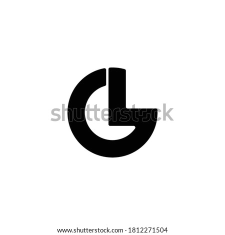 L G letter vector. G L letter vector. Modern unique design. Vector illustration Stok fotoğraf ©