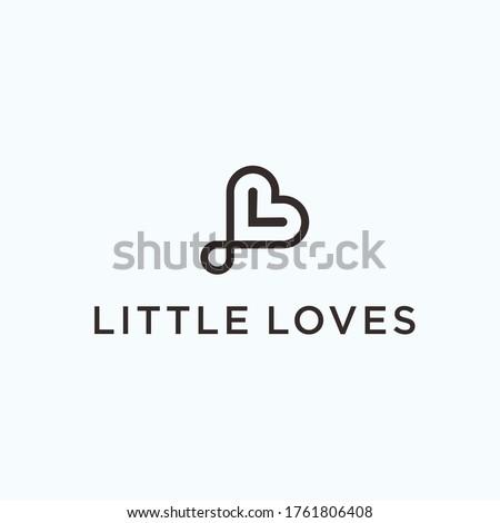 L love logo. love icon Stock fotó ©