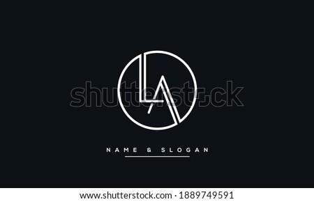 LA, AL Alphabet Letters abstract Logo monogram Stock fotó ©