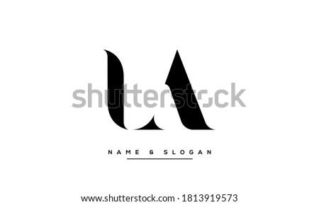 LA, AL Letters abstract Logo monogram Stock fotó ©